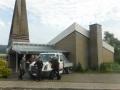 Dacheindeckung mit vorbewitterten Zinkblechen an der Evangelischen Kirche in Eslohe