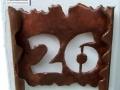 Handgefertigte Hausnummer aus Kupferblech