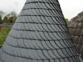 Neue Turmeindeckung aus Naturschiefer eines denkmalgeschützten Gebäudes in Dortmund 3/3