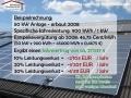 Solarreinigung - Beispielrechnung